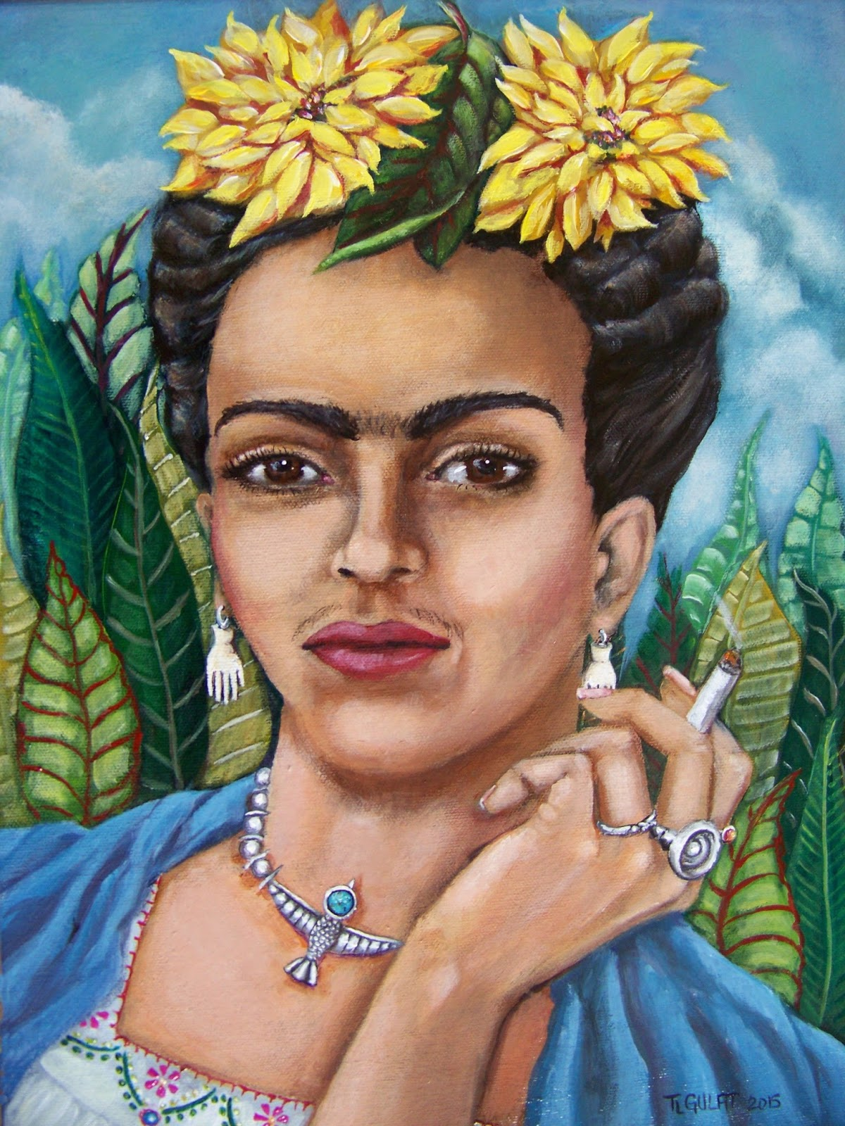 What Painting Methods Did Frida Kahlo Use