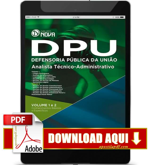 Apostila DPU 2015 Analista Técnico Administrativo PDF Download