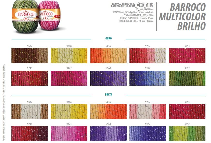 Barroco Multicolor Brilho