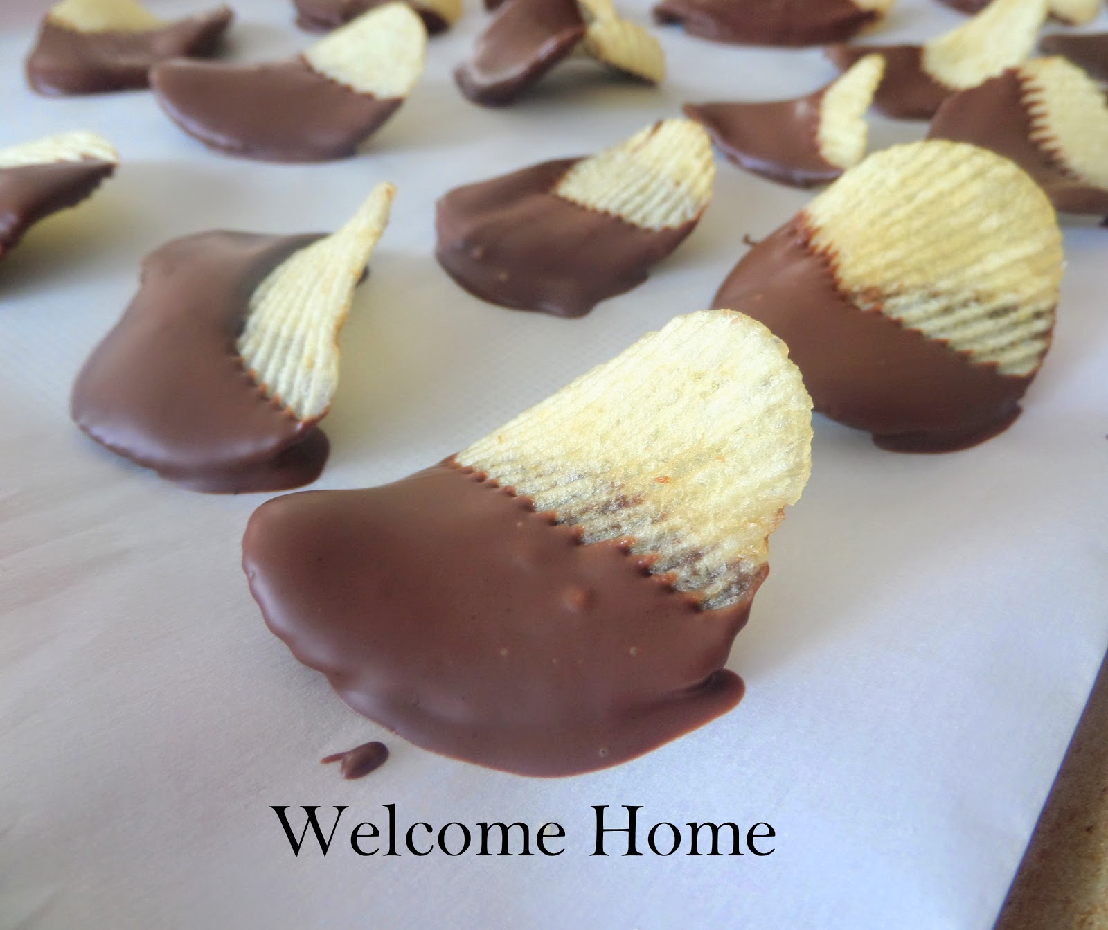 Welcome Home Blog: Chocolate Covered Potato Chips