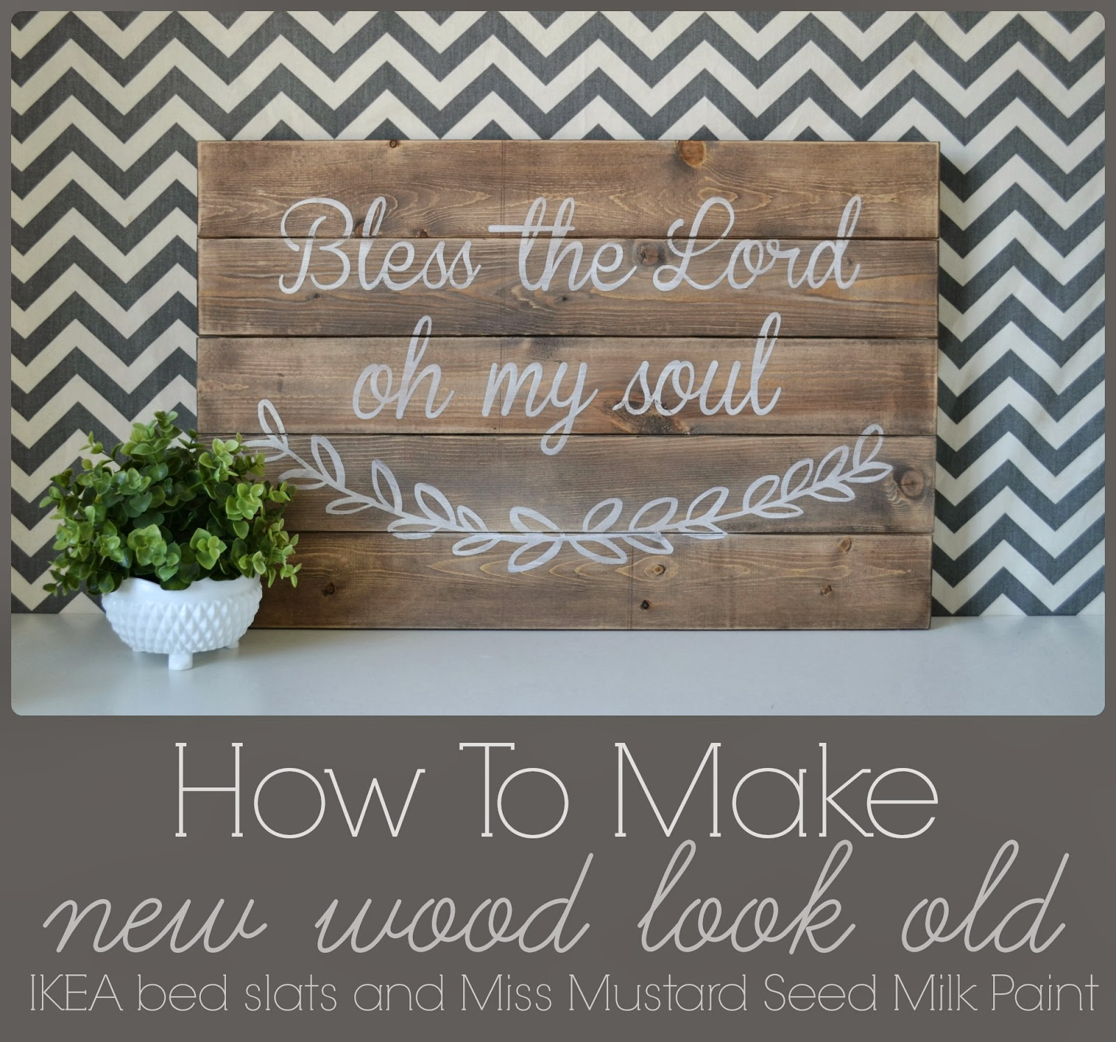 how to make worn wood look new