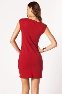 kırmızı elbise modeli