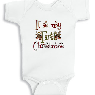 It is my first Christmas funny baby onesie