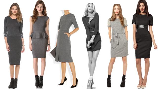 Gray Work Dress