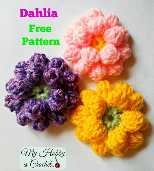 My Hobby Is Crochet Crochet Dahlia Flower Free Pattern With Step