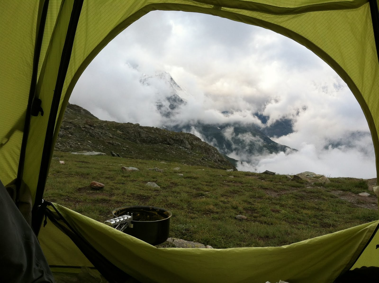 Looking out the tent in the evening. & Climbing in Mammutu0027s Motherland | Team Mammut