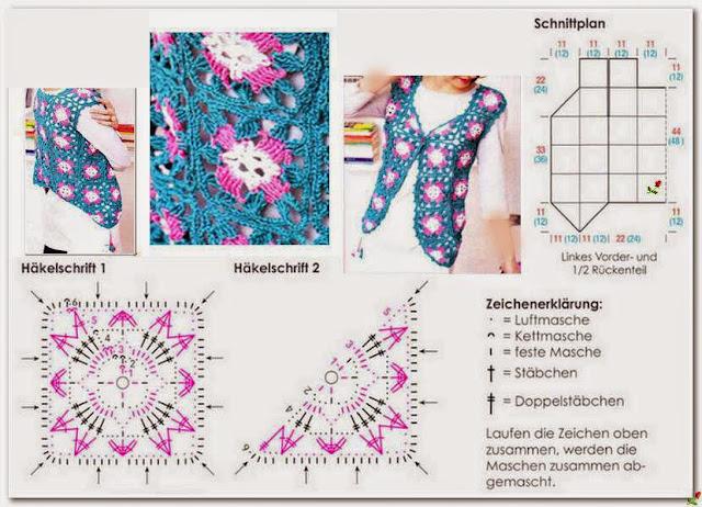 Мотивы для вязания жилетов
