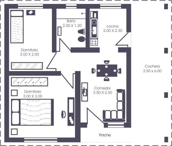 Planos de casas modelos y dise os de casas planos de for Diseno casa de 4 habitaciones