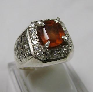 Cincin Batu Permata Hessonite Garnet