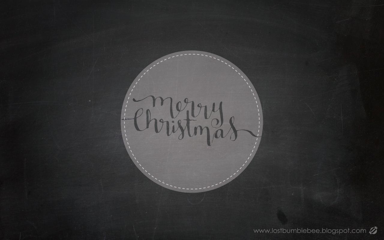 LostBumblebee 2013 Merry Christmas Desktop Free- Hand Lettered by Melissa Baker-Nguyen