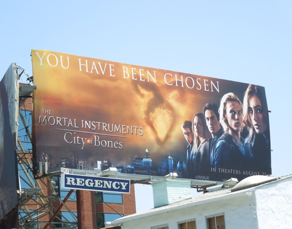 Mortal Instruments City of Bones movie billboard