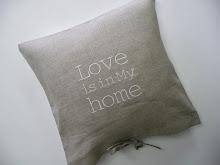 Poduszka lniana LOVE