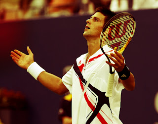 Novak Djokovic with Racket 2012 HD Wallpaper