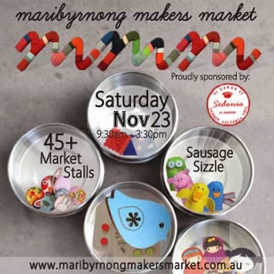 Visit us at the Maribyrnong Makers Market