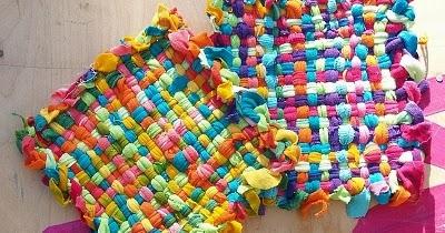 Peque as alfombras hechas de tela portal de manualidades - Alfombras pequenas ...