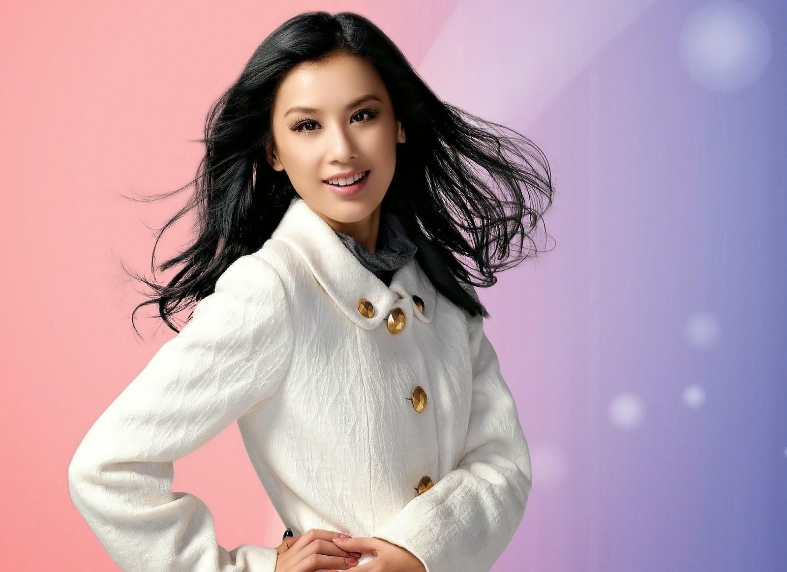Eva Huang in orange | hollywoodactress | Pinterest | Actresses