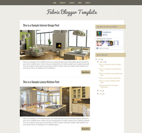 Fabric - Free Blogger Theme to Download in 2016