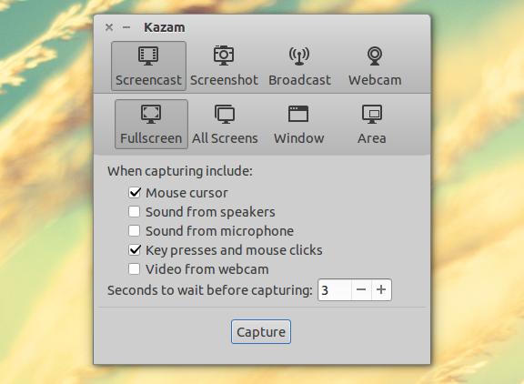 Kazam Screencaster
