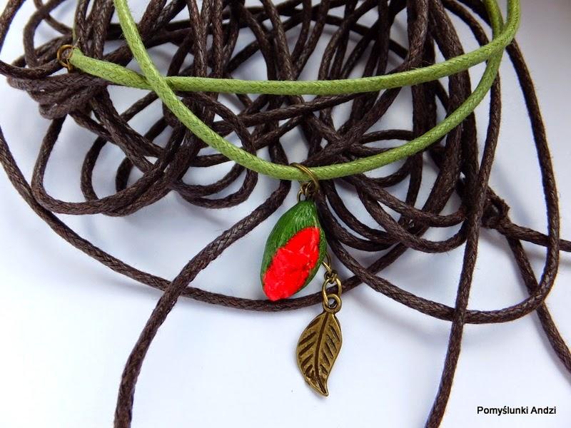 mak, poppy, fimo, premo, polymer clay, pendant,