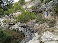 El corriol enlairat sobre el Torrent de Les Fonts