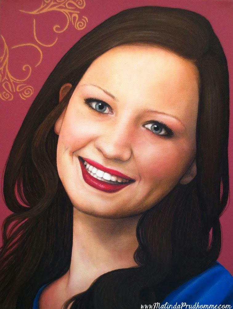 pink hearts, pretty pink lips painting, beauty art, true beauty, malinda prudhomme, portrait art, toronto portrait artist, realism, portrait painting, canadian artist, realistic portraiture