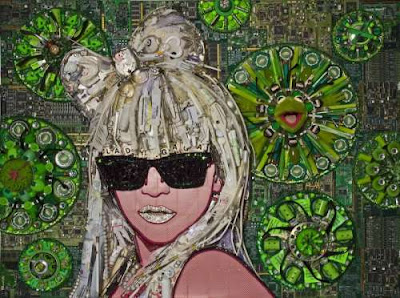 recycled celebrities art by Jason Mecier 3 Bila Sampah Dijadikan Lukisan Selebriti