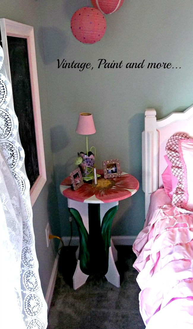 Vintage, Paint and more... whimsically painted department store table for a little girls room