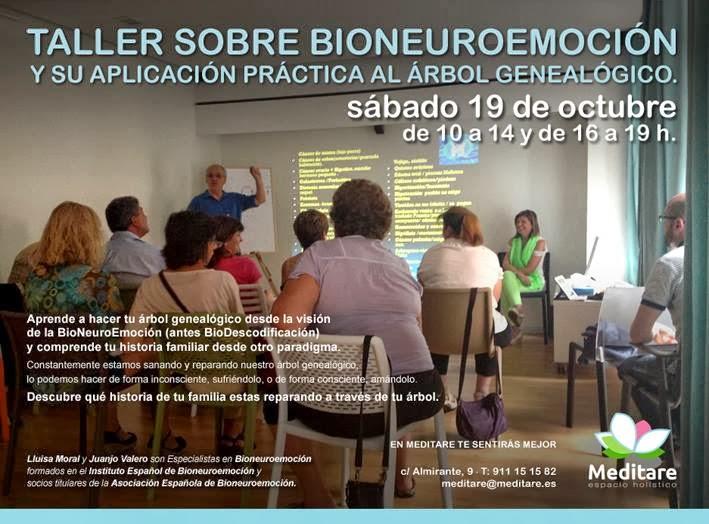 Taller sobre BioNeuroEmoción en Madrid , Sábado 19 de Octubre 2013.