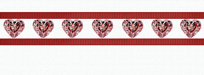 Facebook Timeline Cover hearts ribbon diamonds