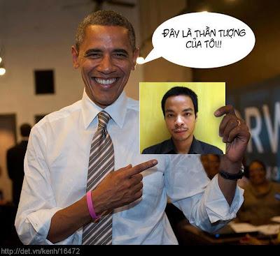 Hình ảnh chế hài hước của Obama - Cảm xúc vui, obama than tuong cua
