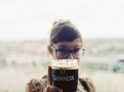 guinness beer and glasses