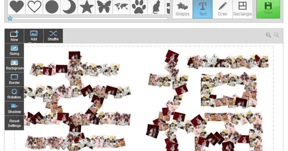 照片拼貼組合出創意文字!好用有趣的照片拼圖免費線上工具