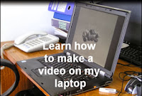 Photo of laptop, learn how to make a video on my laptop