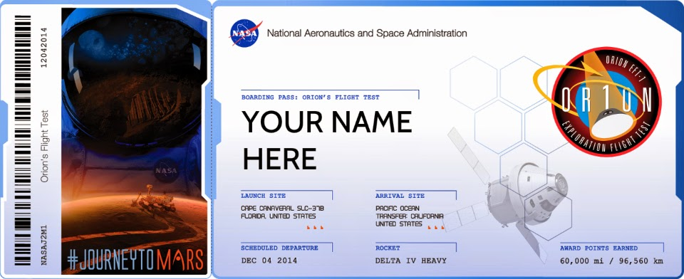NASA Free tickets to Mars