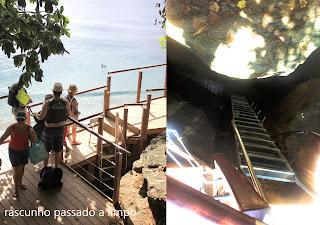 Praia do sancho escada