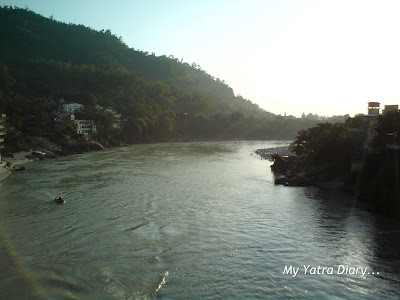 View from the Laxman Jhula in Rishikesh