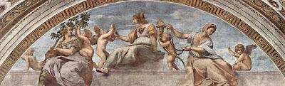 Stanza della Segnatura im Vatikan für Papst Julius II.