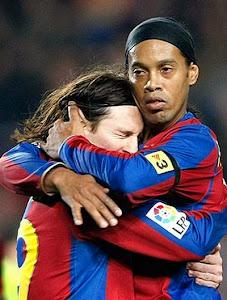 Messi e Ronaldinho Gaucho