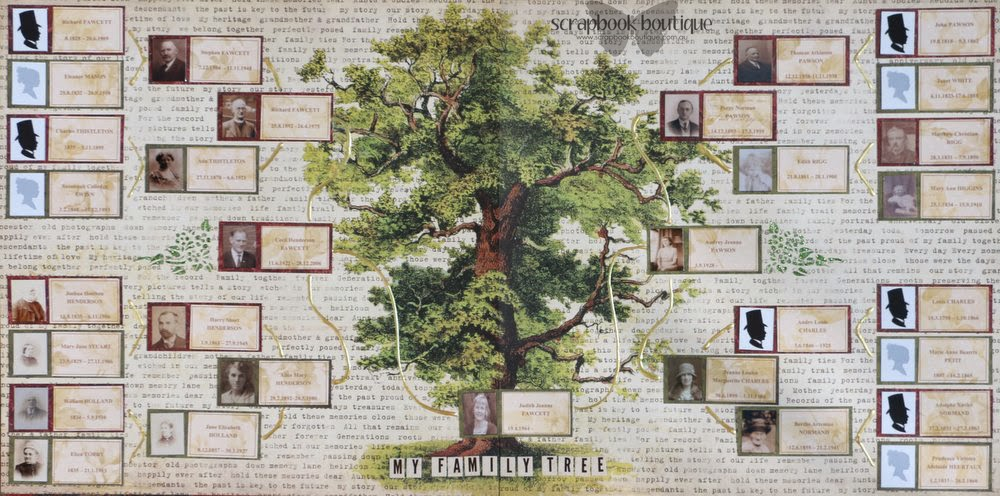 pages of memories my family tree for scrapbook boutique