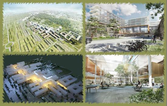 Новая архитектура зданий больницы