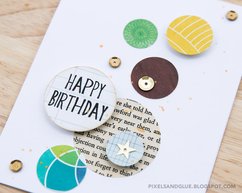 Happy Scrappy Friends | Circle Challenge card by @pixnglue