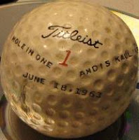 Andis Kaulins Hole in One Titleist Ball