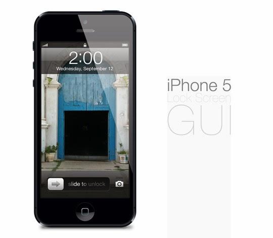iPhone 5 Lock screen GUI PS
