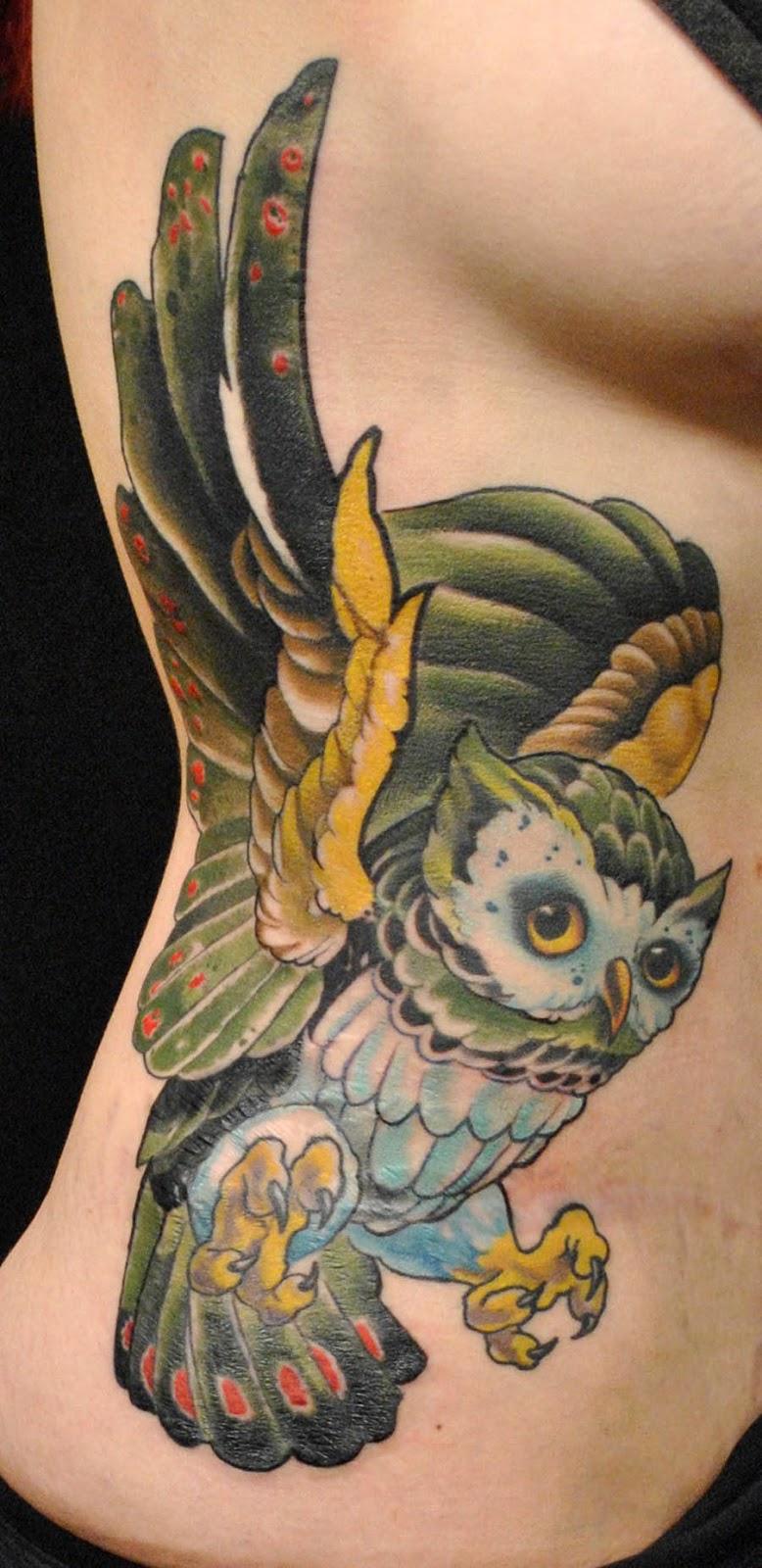 Owl Tattoos3D Tattoos