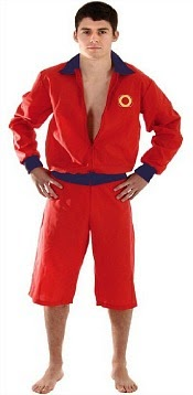 Red Lifeguard Costume for Men