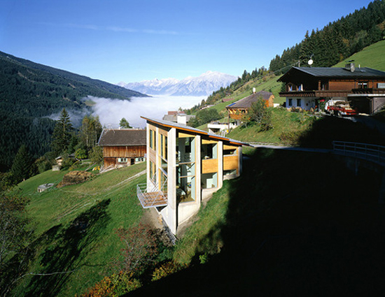 Happiness is austrian architecture for Houses built on slopes