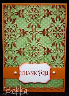 Curly Cute Thank You Card
