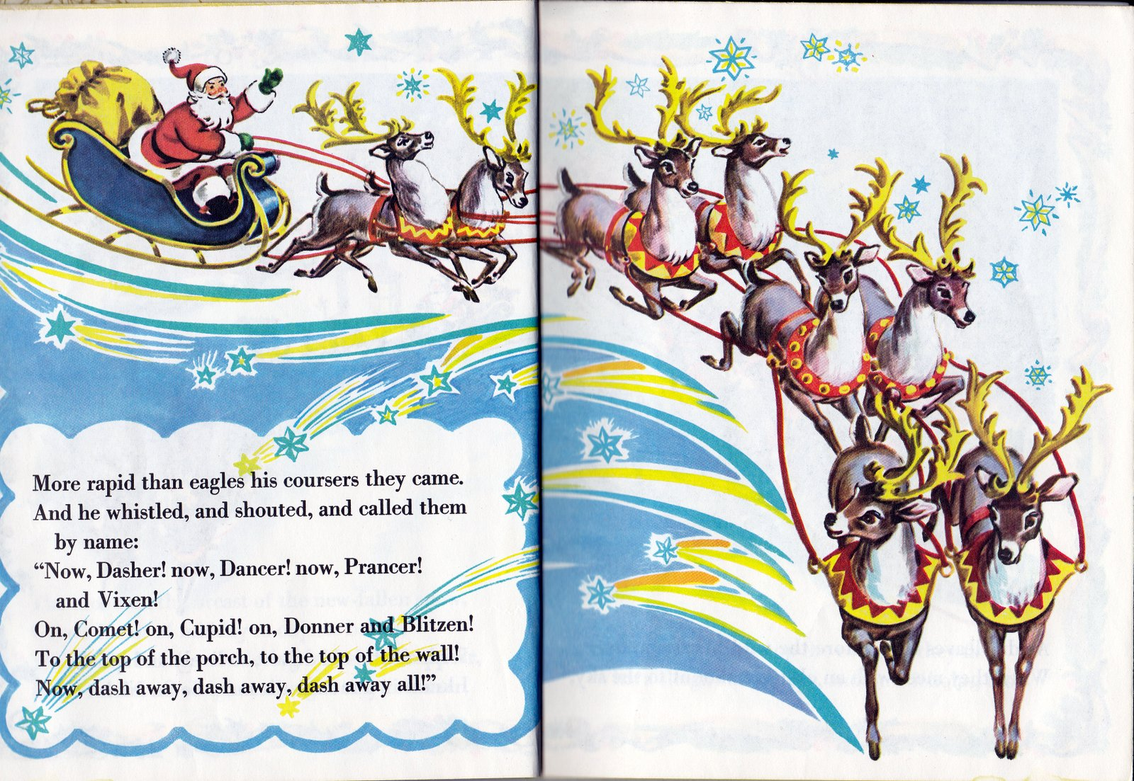 Vintage Books For The Very Young The Night Before Christmas