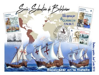 Sobre Sebastián de Belalcázar, 14 sellos.