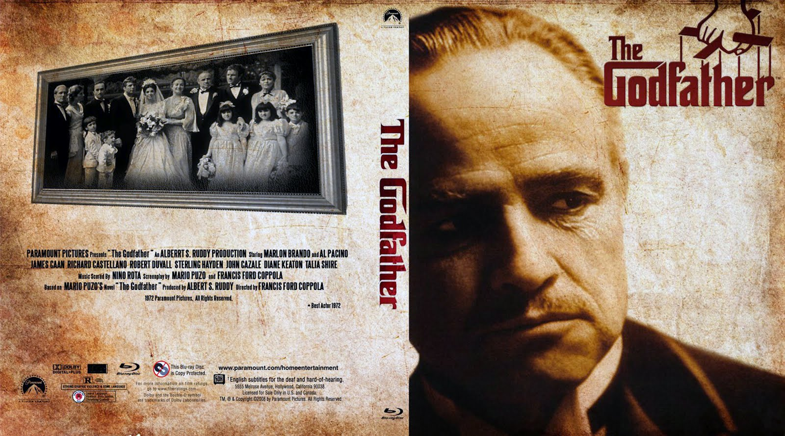 The Godfather Dvd Disk Cover